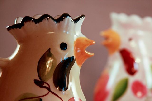 {13/365} chicken pitchers