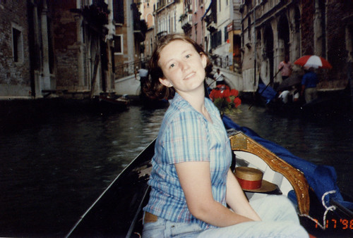 me, in a gondola, being young and cute