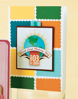 Paper Crafts Go-to Gal Kim Kesti turned the WCMD logo into a fun card!