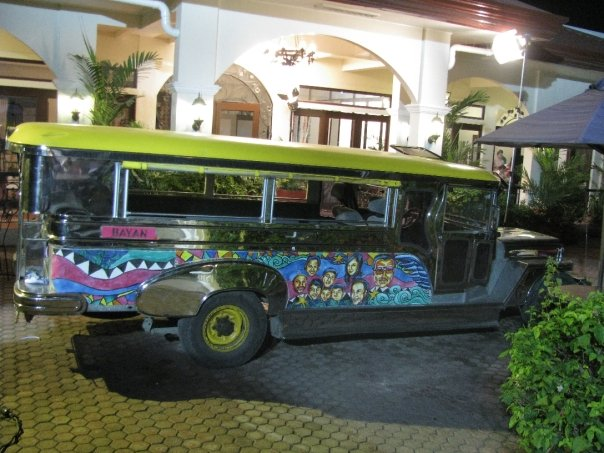 The jeep of Erap while parked at the Paseo del Sol compound where they shot for two days