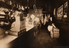 1912 Pennsylvania butcher shop -- H.A. June Me...