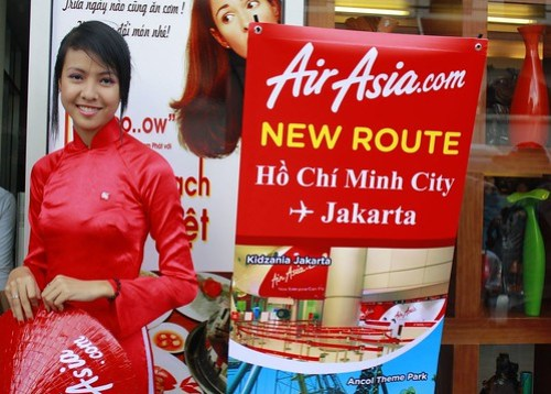 AirAsia celebrating the new route Jakarta - Ho Chi Minh