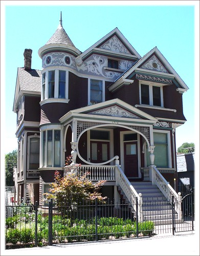 Ornate, beautiful Victorian house, Sacramento.