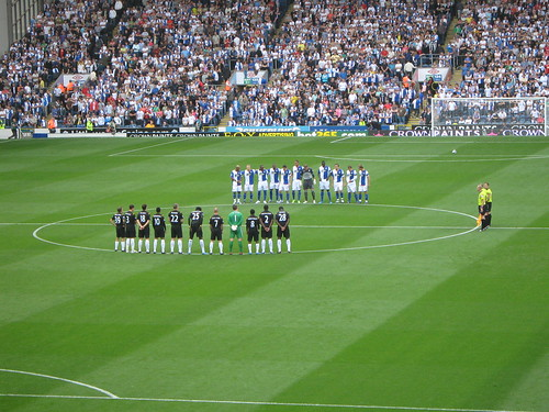 A minutes applause for Sir Bobby Robson
