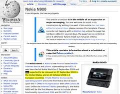 Wikipedia: N900 era previsto para 27 de Setembro nos EUA e 19 de Outubro em alguns países da Europa
