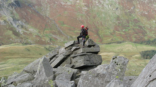 The author at half height on Pinnacle Ridge