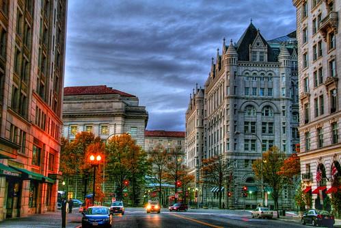 First Light on a D.C. Street