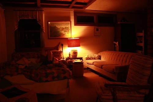 The Cabin before bed
