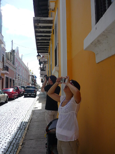 Tourists in the Old San Juan