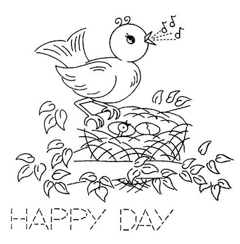 Clipart Illustrator: singing bird AM 3482 d