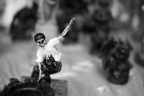 Skeletal Skateboarder