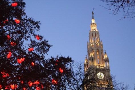 Radhaus and Christmas Decorations, Vienna