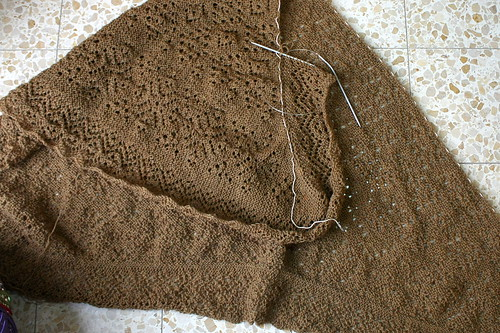 Orenburg Triangular Shawl Update