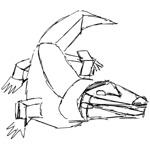 Crocodile, part 2 (basic shapes)