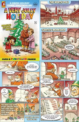 En lugar de una tarjeta, los de Crush, Toronto, crearon y envían un libro de comic de 8 páginas