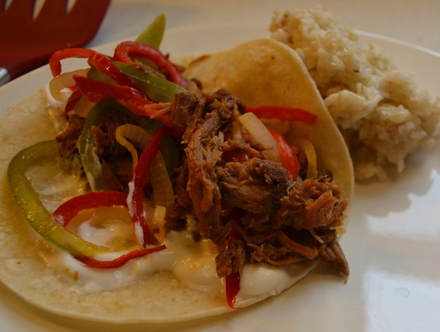 smoky beef taco