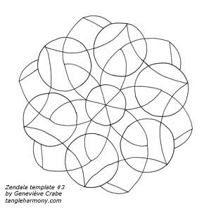 Mandala template #3
