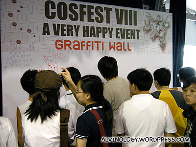 Graffiti wall which is put up at every Cosfest
