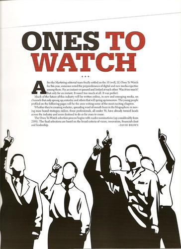 Marketing Mag - Ones to Watch 3 of 5 by you.