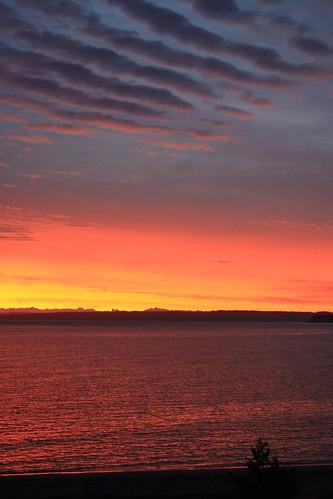 Sunrise at Fort Worden State Park