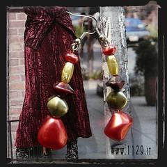 orecchini rossi - red earrings INROAS