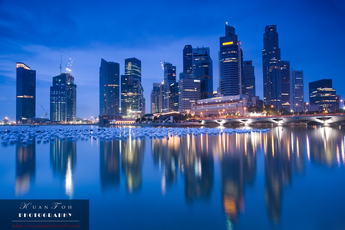 Singapore CBD at Day Break - Surreal