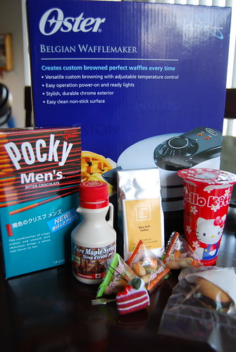 All the food-related stuff I received
