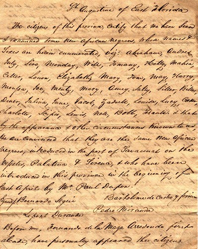 Certificate of the Slaves on the Syrena, 05/12/1820 (page 1 of 2)