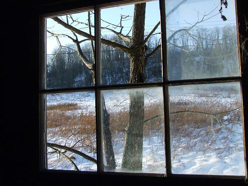 barn window view