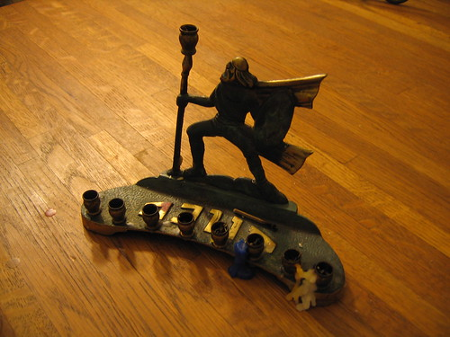 Judas Maccabaeus menorah 2008 by Sara Hopkins on flickr