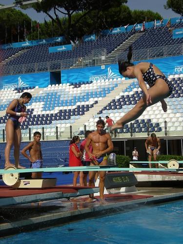 718徐雪茵在羅馬13屆世錦賽練習一米板