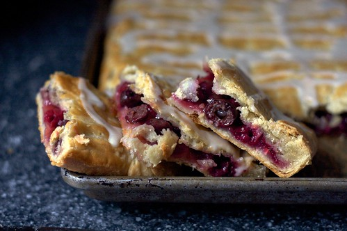 sour cherry slab pie