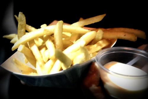 Gastrobus Fries with Garlic Sauce DTLA Artwalk October Edition by you.