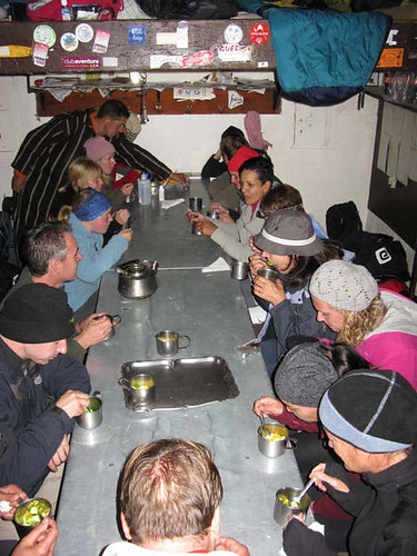 Toubkal trek - cold evening in the refuge