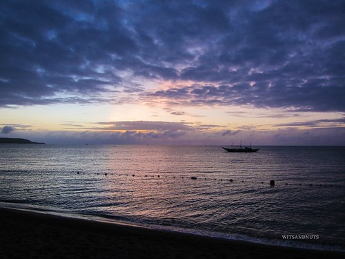 early morning at laiya beach