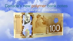 New Bank of Canada $100 Polymer Note - Back