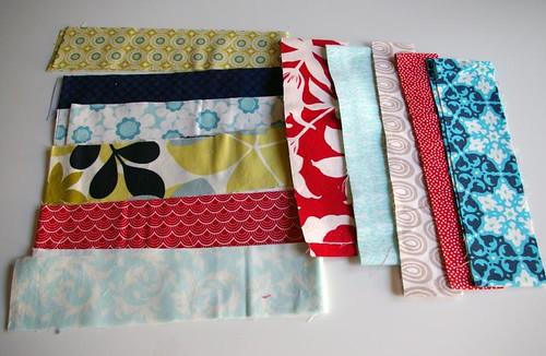 12 Squared fabrics for Sarah