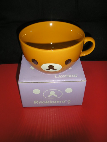 Rilakkuma soup cup from Lawson
