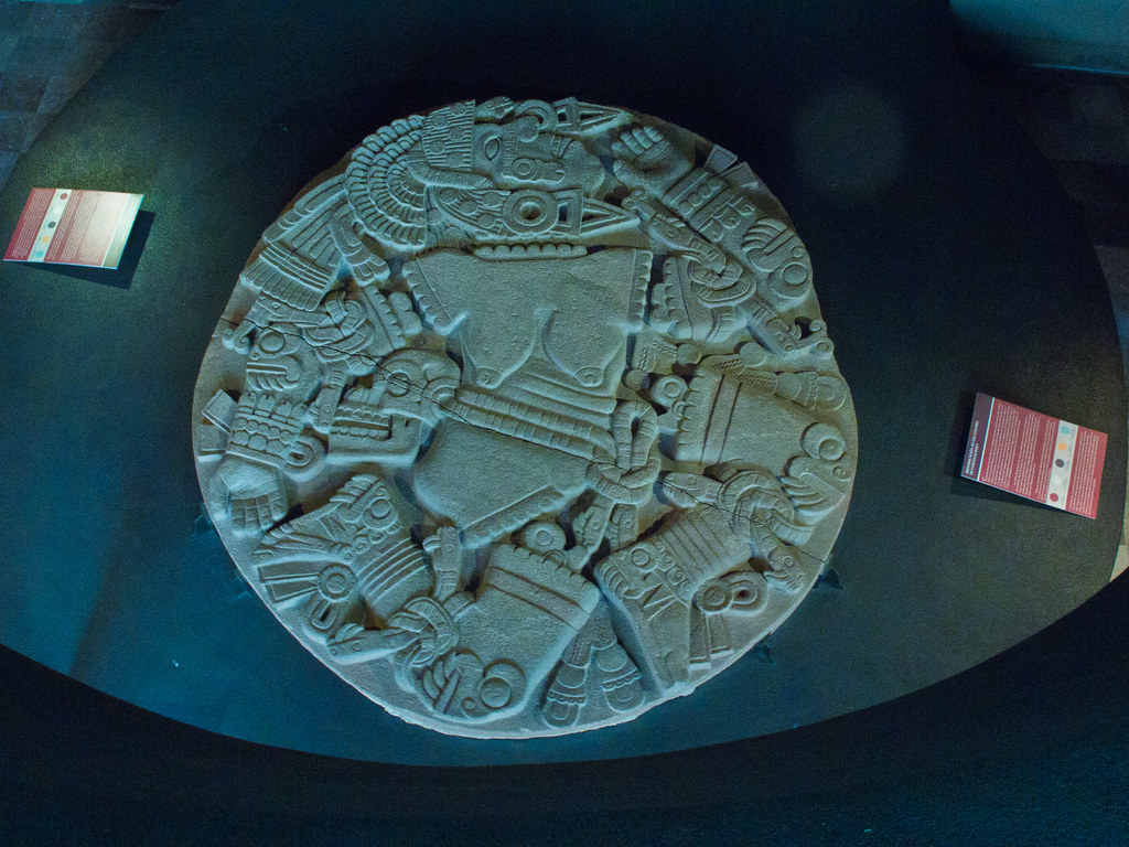 Disk depicting a dismembered Coyolxauhqui