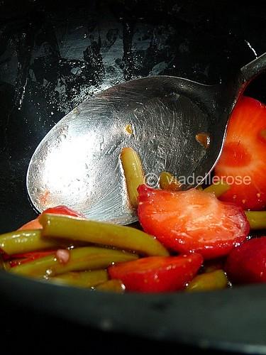 Insalata di fagiolini e fragole