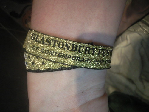 Glastonbury wristband