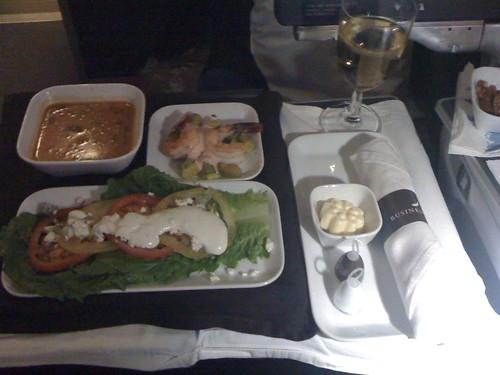 Appetizer course. Delta biz class