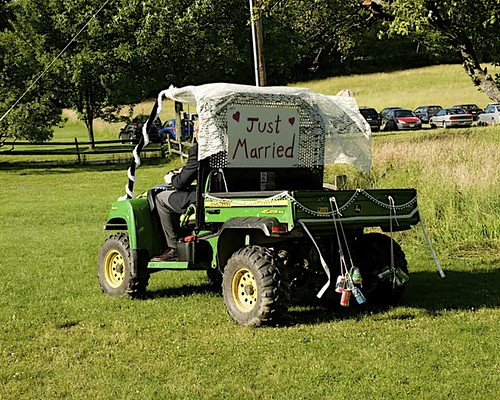 """The """"just married"""" tractor"""