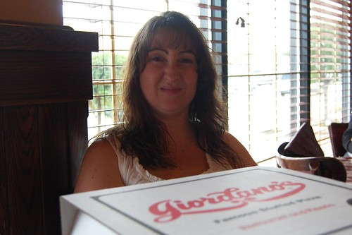 I was making a face at Heather, the pizza wasnt icky!