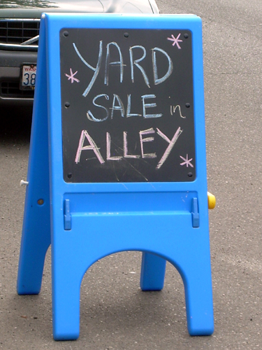 Yard Sale In Alley