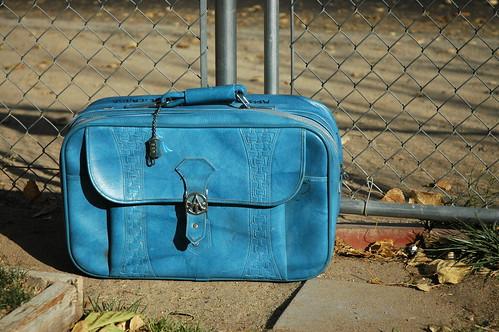 29/365 - Vintage Blue Suitcase