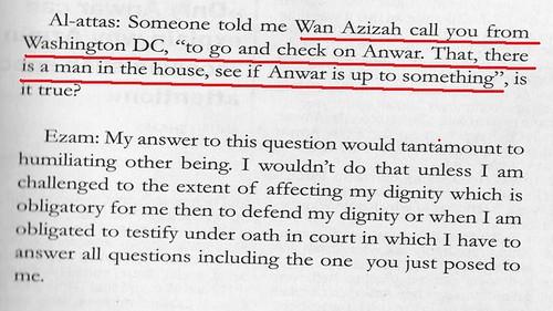 Azizah told Ezam