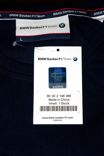 Etiqueta de Playera BMW