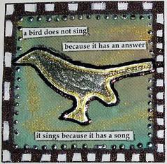 Birds Sing Meander Book Page