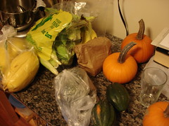 squash and corn and pumpkins and and and
